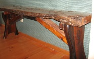 Live edge bench- recycled wood-Trinity River Marine
